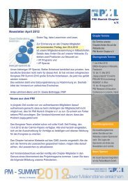 Newsletter April 2012 - Project Management Institute Munich ...