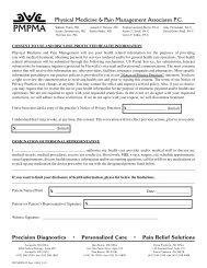 Precision Diagnostics • Personalized Care • Pain Relief ... - PMPMA