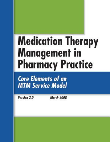 Medication Therapy Management in Pharmacy Practice - American ...
