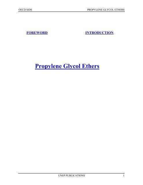 Propylene Glycol Ethers