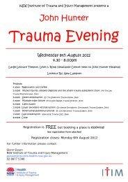 Trauma Evening Master - NSW ITIM