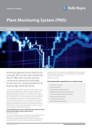 Plant Monitoring System (PMS) - Rolls-Royce