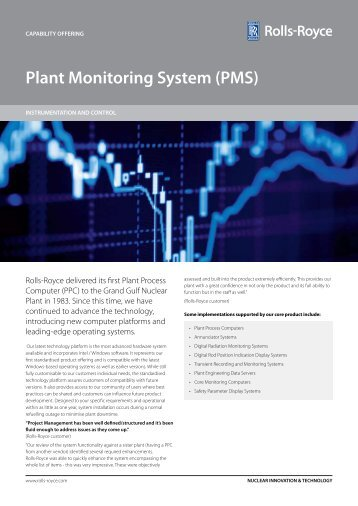 Plant Monitoring System : Rolls royce quality management system