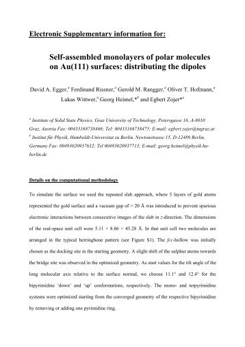 2d Self Assembled Crystals With Polar Molecules Shaping The