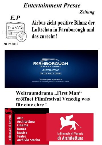 Entertainment Presse Zeitung Ausgabe 20.07.2018