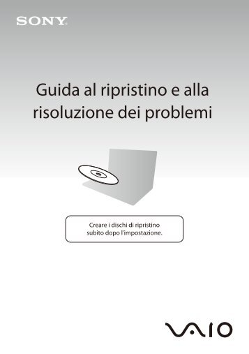 Sony VPCY11M1E - VPCY11M1E Guide de dépannage Italien