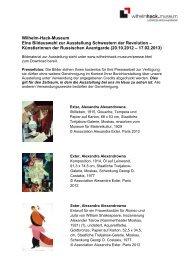 Künstlerinnen der Russischen Avantgarde (20. - Wilhelm-Hack ...