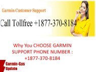 Why you CHOOSE GARMIN SUPPORT PHONE NUMBER : +1877-370-8184