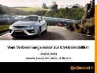 Vom Verbrennungsmotor zur Elektromobilität - eMobility Summit