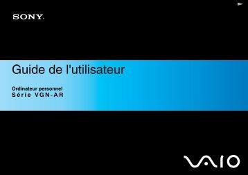 Sony VGN-AR61S - VGN-AR61S Istruzioni per l'uso Francese