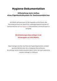 Hygiene-Dokumentation - HGV Praxis