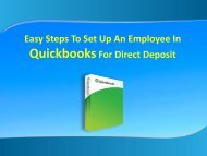 Steps To Set Up An Employee In Quickbooks For Direct Deposit