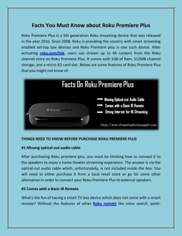 Facts You Must Know about Roku Premiere Plus