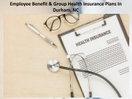 Employee Benefit & Group Health Insurance Plans in Durham NC