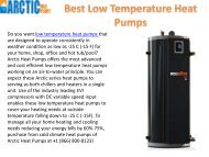 Best Low Temperature Heat Pumps
