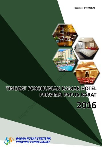 Tingkat Penghunian Kamar Hotel Provinsi Papua Barat 2016_2