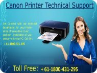 Canon printer support helpline number australia + 61-1800-431-295 Canon printer support helpline number Australia + 61-1800-431-295