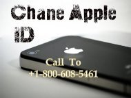 Call  To +1-800-608-5461 Change the Apple ID on the iPad and iPhone