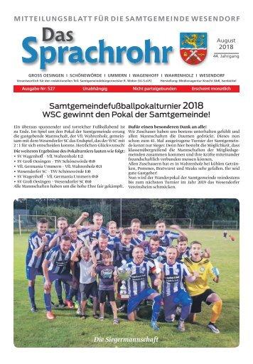 Sprachrohr August 2018