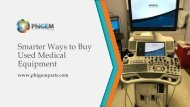 Smarter Ways to Buy Used Medical Equipment