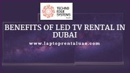 Benefits of our LED Screens and LED TV Rental in Dubai