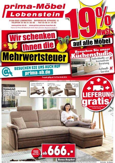 19 Mwst Geschenkt Auf Alle Möbel Prima Möbel 07356 Bad Lobenstein