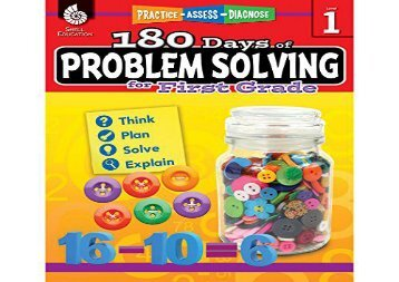 180 days of problem solving for second grade 180 days of practice
