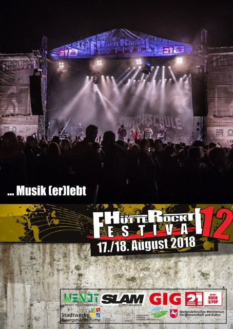 Hütte Rockt Festival 12 - Programmheft