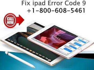 Fix ipad Error Code 9