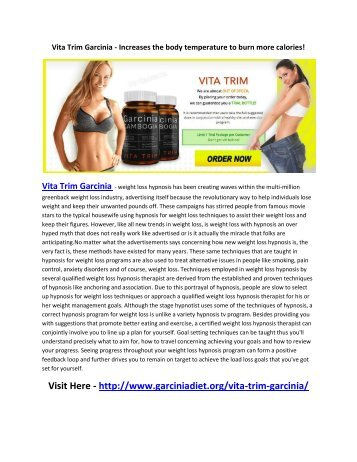 Vita Trim Garcinia - Weight Loss Diet Pills For Reduce Fat!