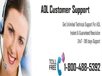 How To Find  AOL Customer Support? 1-800-488-5392 Toll-Free