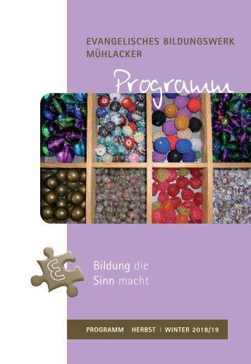 Programm Herbst/Winter 2018