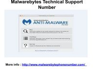 Malwarebytes Technical Support Number