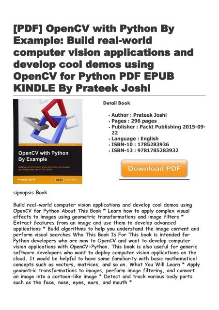 OpenCV-with-Python-By-