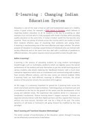E-learning : Changing Indian Education System