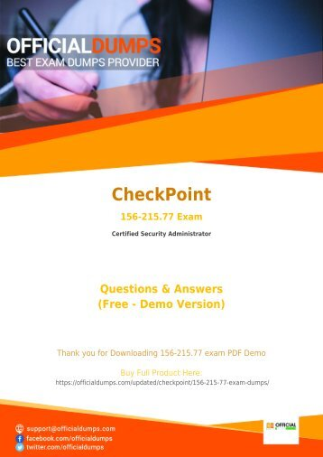 156-215.77 Exam Dumps - [Actual 2018] Download Updated CheckPoint 156-215.77 Exam Questiosn PDF