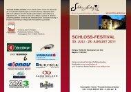 schloss-festival 30. juli - 28. august 2011 - Bootbox Country Band