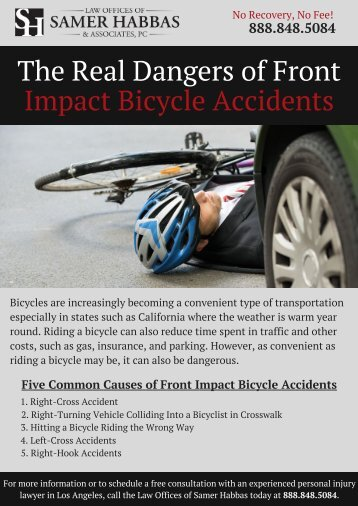 The Real Dangers of Front Impact Bicycle Accidents