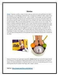Slimlex : Provide you a Tone and Slimmer Body