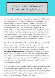 Install HP Photosmart printer on Google Cloud