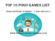 Top 10 Pogo Games List | Pogo Support Number in USA | Pogo Tech Support Phone Number