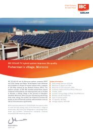 Fishermen's village, Morocco - IBC SOLAR PV hybrid system improves life quality