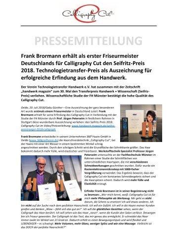 Pressemitteilung Seifritz-Preis_Studie_Calligraphy Cut von Frank Brormann
