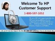 Call 1-800-597-1052 HP Customer Support