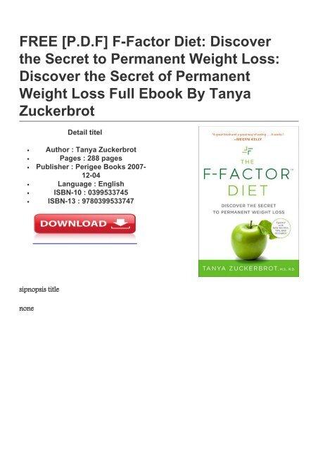 free f factor diet pdf