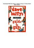 Download PDF Dave Barry s Guide to Guys: A Fairly Short Book Online - Page 2