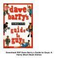 Download PDF Dave Barry s Guide to Guys: A Fairly Short Book Online - Page 4