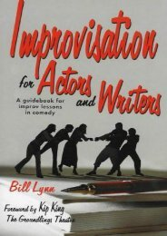 Download PDF IMPROVISATION FOR ACTORS   WRITERS: A Guidebook for Improving Lessons in Comedy Online