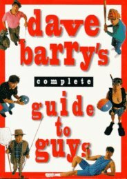 Download PDF Dave Barry s Guide to Guys: A Fairly Short Book Online
