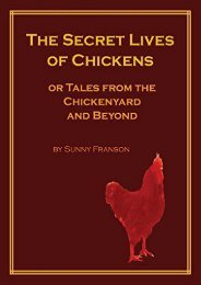 Download PDF The Secret Lives of Chickens: Or Tales from the Chickenyard and Beyond Full